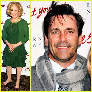 Jon Hamm: Bette Midler's 'I'll Eat You Last' Broadway Opening!