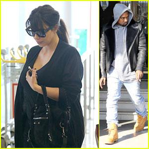 Kanye West & Kim Kardashian: Pregnant Paris Departure After Easter Weekend!