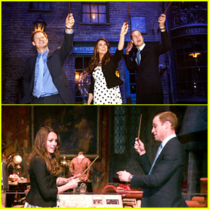 Kate Middleton & Prince William: Harry Potter Wand Battle!