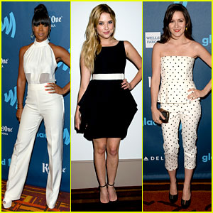 Kelly Rowland & Ashley Benson - GLAAD Media Awards 2013