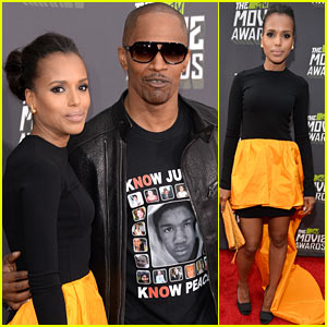 Kerry Washington & Jamie Foxx - MTV Movie Awards 2013 Red Carpet