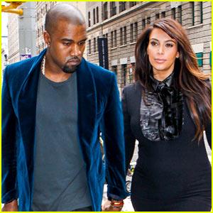 Kim Kardashian & Kanye West Hold Hands in New York