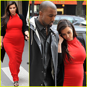 Pregnant Kim Kardashian & Kanye West: Reunited in Paris!