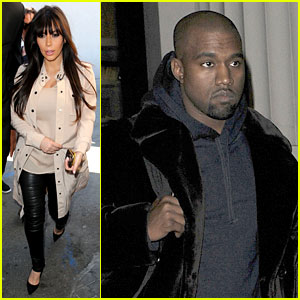 Kim Kardashian Eats with Sisters, Kanye West Parties with Rob