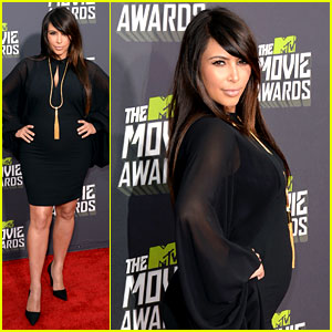 Kim Kardashian - MTV Movie Awards 2013 Red Carpet