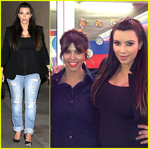 Kim Kardashian: Pregnant in Jeans for Kourtney's Birthday!