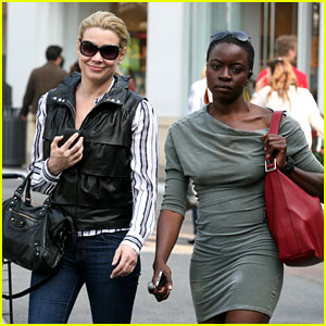 Laurie Holden & Danai Gurira: Gal Pals at The Grove!
