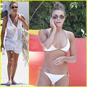 LeAnn Rimes: White Bikini Babe in Miami!