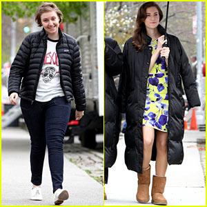 Lena Dunham & Allison Williams: 'Girls' Set with Jemima Kirke!