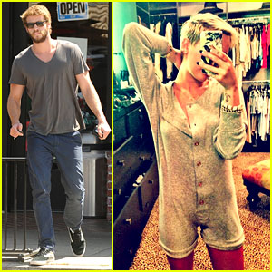Liam Hemsworth Eats at Sweetsalt, Miley Cyrus Wears Chanel Onesie