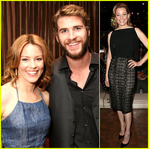 Liam Hemsworth & Elizabeth Banks: 'Catching Fire' at CinemaCon!