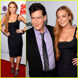 Lindsay Lohan: 'Scary Movie 5' Premiere with Charlie Sheen!
