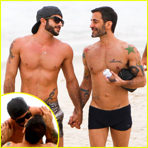 Marc Jacobs & Harry Louis: Beach Kisses in Rio!