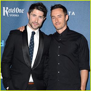 Matt Dallas & Blue Hamilton - GLAAD Media Awards 2013