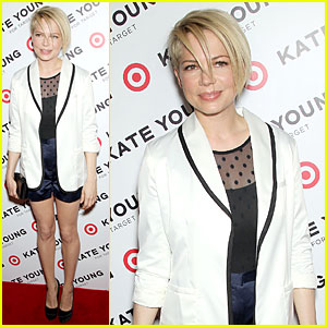Michelle Williams: Haircut Debut at Kate Young For Target Launch!