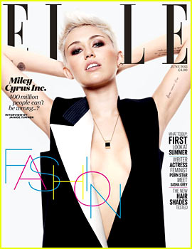 Miley Cyrus Covers 'Elle UK' June 2013