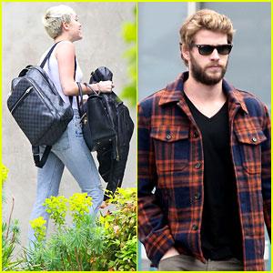Miley Cyrus & Liam Hemsworth: Separate Saturday Sightings!