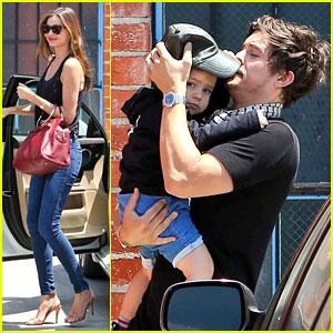 Miranda Kerr & Orlando Bloom 'Romp' Around with Flynn