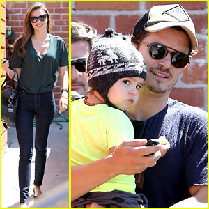 Miranda Kerr & Orlando Bloom: Romp Family Outing!