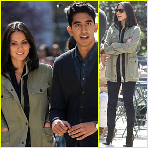 Olivia Munn & Dev Patel: 'The Newsroom' Filming!