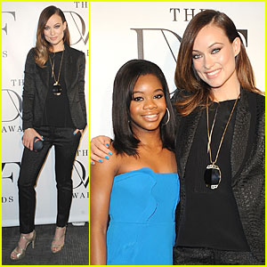 Olivia Wilde: DVF Awards with Gabby Douglas!