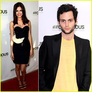 Penn Badgley & Victoria Justice: H&M Collection Launches!