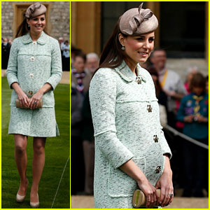 Pregnant Kate Middleton: Baby Bump at Queen's Scout Review