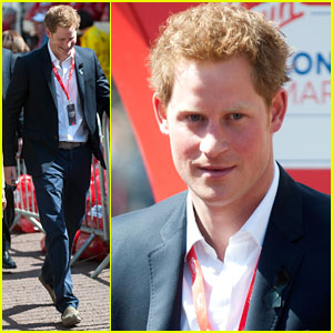 Prince Harry: London Marathon Visit!