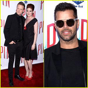 Ricky Martin & Debra Messing: 'Pippin' Broadway Opening!