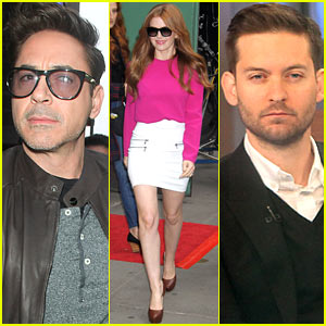 Robert Downey, Jr. & Tobey Maguire: 'GMA' Guys!
