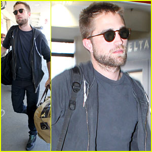 Robert Pattinson: Lots of Luggage at LAX!