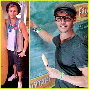 Ryan Kwanten: Fruit Bar Fun at Coachella 2013!