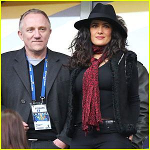 Salma Hayek & Francois Henri Pinault: French League Cup Final!