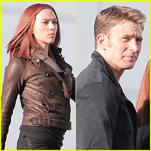 Scarlett Johansson & Chris Evans: 'Captain America: The Winter Soldier' Confrontations!