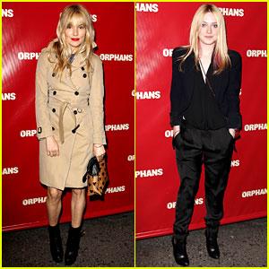 Sienna Miller & Dakota Fanning: 'Orphans' Broadway Opening!