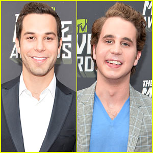 Skylar Astin & Ben Platt - MTV Movie Awards 2013 Red Carpet