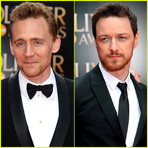 Tom Hiddleston & James McAvoy - Olivier Awards 2013 Red Carpet