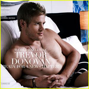 Trevor Donovan: Underwear-Clad 'Glamoholic' April 2013 Cover