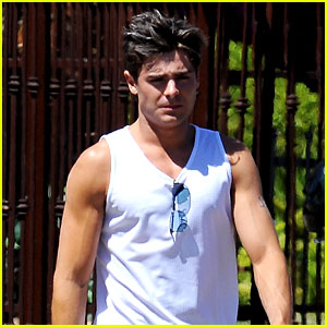 Zac Efron: Gun Show on 'Townies' Set!