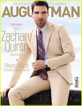 Zachary Quinto Covers 'August Man' May 2013 - Exclusive!
