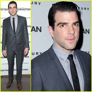 Zachary Quinto: 'Manhattan' April Cover Party!