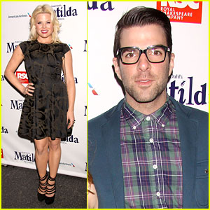 Zachary Quinto & Megan Hilty: 'Matilda' Opening Night!