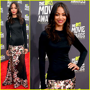 Zoe Saldana - MTV Movie Awards 2013 Red Carpet