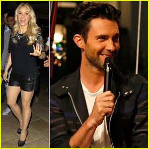 Adam Levine & Shakira: 'The Voice' on 'Extra'!