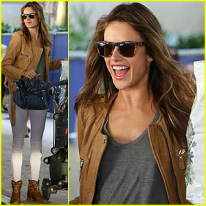 Alessandra Ambrosio Gets a Ride from Jamie Mazur & Anja!