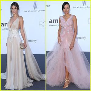 Alessandra Ambrosio & Selita Ebanks: amfAR's Cannes Gala!