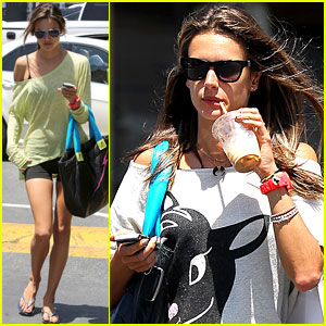 Alessandra Ambrosio Shops at the Brentwood Country Mart