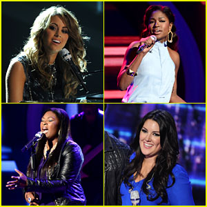 Idol, Angie Miller, Candice Glover, Harry Connick Jr, Kree Harrison