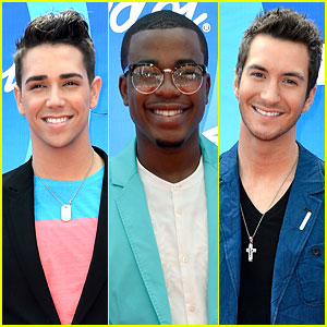 'American Idol' Top Five Guys Walk Season Finale Red Carpet
