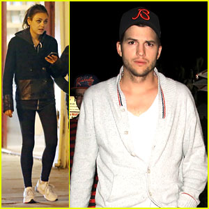 Ashton Kutcher Travels Home, Mila Kunis Hangs with Parents